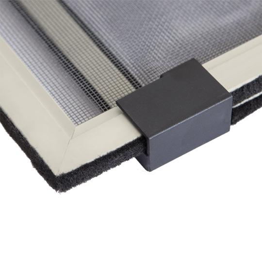 Zanzariera telaio alluminio estensibile scorrevole con spazzolino finestra porta ebay - Telaio porta scorrevole ...